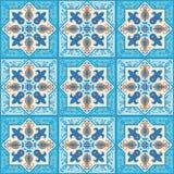 Ceramic tile ornamental background stock illustration