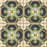 Ceramic Tile Pattern 322 Exotic Vintage Green Curve Spiral Cross Stock Image