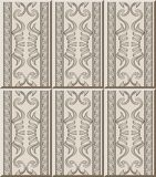 Ceramic tile pattern aboriginal curve spiral cross triangle fram. E line, oriental interior floor wall ornament elegant stylish design royalty free illustration