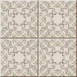 Ceramic tile pattern aboriginal curve spiral vortex cross frame. Line, oriental interior floor wall ornament elegant stylish design royalty free illustration