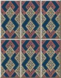 Ceramic tile pattern Check Polygon Spiral Cross Tracery Frame Li. Ne, oriental interior floor wall ornament elegant stylish design Stock Photography