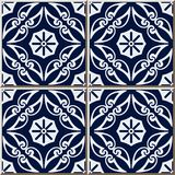Ceramic tile pattern Curve Spiral Cross Frame Vine Flower. Oriental interior floor wall ornament elegant stylish design vector illustration