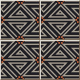 Ceramic tile pattern 403 geometry spiral triangle line dot Stock Photo