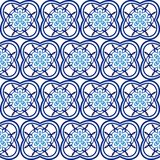 Ceramic tile pattern. Islamic, indian, arabic motifs. Damask seamless pattern. Porcelain ethnic bohemian background. Abstract. Flower. Print for fabric and vector illustration