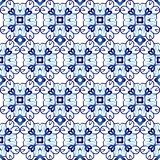 Ceramic tile pattern. Islamic, indian, arabic motifs. Damask seamless pattern. Porcelain ethnic bohemian background. Abstract. Flower. Print for fabric and royalty free illustration