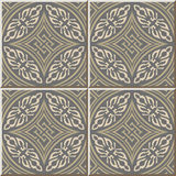 Ceramic tile pattern 336 round aboriginal cross geometry Stock Images