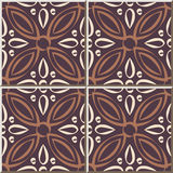Ceramic tile pattern 480 round cross flower kaleidoscope Stock Photography