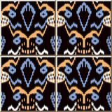 Ceramic tile pattern Sawtooth Edge Aboriginal Cross Frame. Oriental interior floor wall ornament elegant stylish design vector illustration