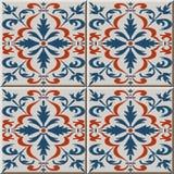 Ceramic tile pattern 486 spiral cruve cross flower kaleidoscope Royalty Free Stock Image