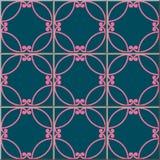 Ceramic tile pattern spiral round curve cross frame tracery. Oriental interior floor wall ornament elegant stylish design Stock Photos