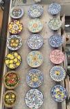 Ceramic Tile Plates stock photo