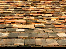 Ceramic tile roof. From old house Stock Photo