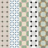 Ceramic tile samples. 5 samples of ceramic tiles stock illustration