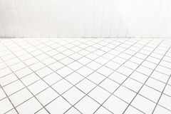 Ceramic tile wall and flooring paving with oblique view. Background Royalty Free Stock Photography