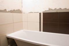 Ceramic tile on walls Stock Photo