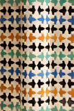 Ceramic tile works at Nasrid Palaces in Granada Royalty Free Stock Photography