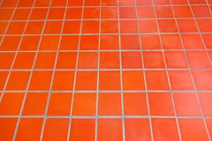 Ceramic tiled floor stock photo