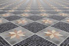 Ceramic tiled ground Stock Image