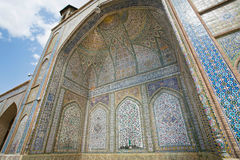 Ceramic tiled inside the mosque in Middle East Royalty Free Stock Image
