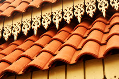 Ceramic Tiled Rooftop Royalty Free Stock Photos