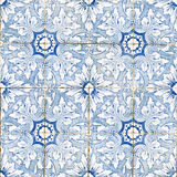 Ceramic tiles. Portuguese blue vintage ceramic tiles Stock Photography