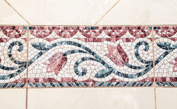 Ceramic Tiles. Colorful vintage ceramic tiles wall decoration royalty free stock photos