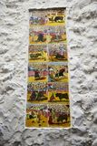 Ceramic Tiles depicting aspects of Spanish Culture in the Old Town of Marbella on the Costa del Sol Spain. Marbella is a city in Andalusia,Spain, by the Royalty Free Stock Photography