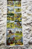 Ceramic Tiles depicting aspects of Spanish Culture in the Old Town of Marbella on the Costa del Sol Spain. Marbella is a city in Andalusia,Spain, by the Stock Photo