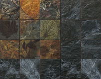 Ceramic tiles nature pattern. And dark granite Royalty Free Stock Images