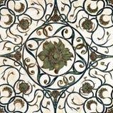 Ceramic tiles. Ornament flower ceramic tiles old Stock Image