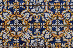 Ceramic tiles patterns Azulejos from Portugal Stock Photos