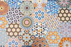 Ceramic tiles patterns stock photo