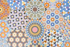 Ceramic tiles patterns stock images