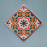 Ceramic tiles patterns colorful style. Stock Photography