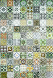 Ceramic tiles patterns from Portugal. Royalty Free Stock Photo