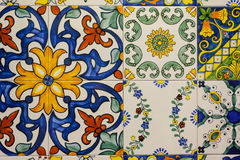 Ceramic tiles patterns from Portugal. stock image