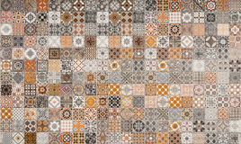 Ceramic tiles patterns from Portugal. Stock Images
