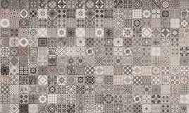 Ceramic tiles patterns from Portugal. Royalty Free Stock Photography