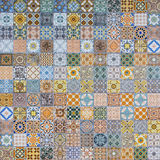 Ceramic tiles patterns from Portugal. Stock Photo