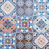 Ceramic tiles patterns from Portugal. Stock Photography