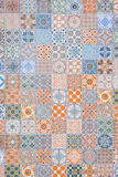 Ceramic tiles patterns from Portugal Royalty Free Stock Image
