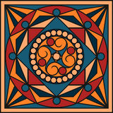 Ceramic tiles in retro colors. Vintage patterns. Vector illustration Stock Images