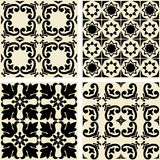 Ceramic tiles with seamless pattern - vector Stock Image