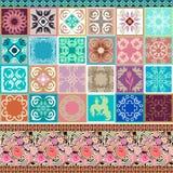 Ceramic tiles set. Stock Photos