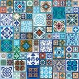 Ceramic tiles set. Royalty Free Stock Photography