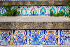 Ceramic tiles on the steps Stock Image