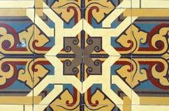 Ceramic tiles texture. Fabric on multiple ceramic tiles Royalty Free Stock Photo