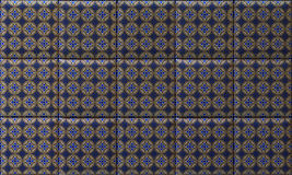 Ceramic tiles. Ceramic tile blue and gold pattern thai style Stock Photography