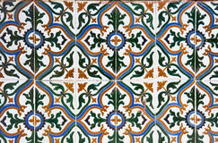 Ceramic Tiles Wall Decoration Royalty Free Stock Photo