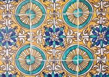 Ceramic tiles wall decoration Royalty Free Stock Photos